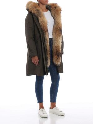 WOOLRICH: cappotti imbottiti online - Parka Cascade con bordo di pelliccia 3 in 1