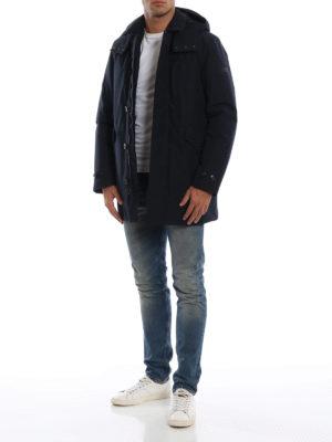 WOOLRICH: cappotti imbottiti online - Parka imbottito Paddock in Goretex blu
