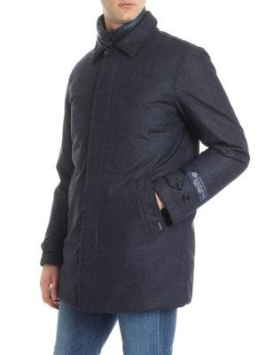WOOLRICH: cappotti imbottiti online - Cappotto imbottito in piuma d'anatra in lana