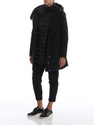 WOOLRICH: cappotti imbottiti online - Eskimo piuma nero Long Military due in uno