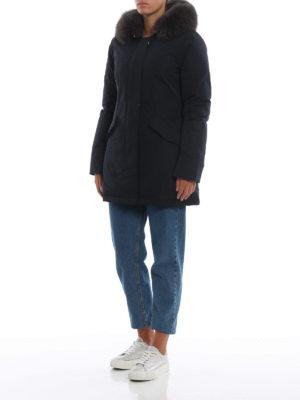 WOOLRICH: cappotti imbottiti online - Piumino blu Luxury Arctic con cappuccio