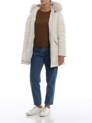 WOOLRICH: cappotti imbottiti online - Piumino bianco Luxury Arctic con cappuccio