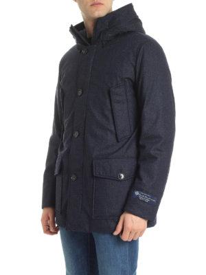WOOLRICH: cappotti imbottiti online - Piumino d'anatra con maxi tasche e cappuccio