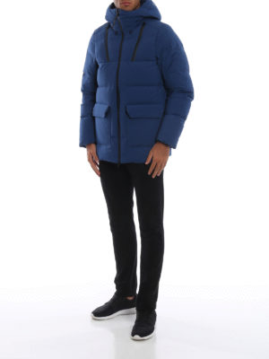 WOOLRICH: cappotti imbottiti online - Piumino blu elettrico Comfort Parka