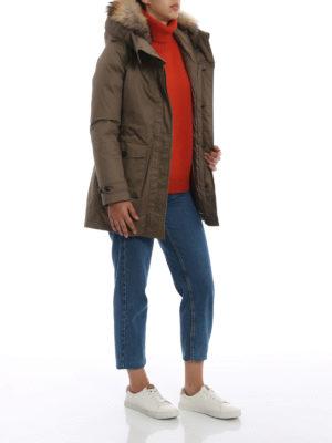 WOOLRICH: cappotti imbottiti online - Scarlett Parka tortora due in uno