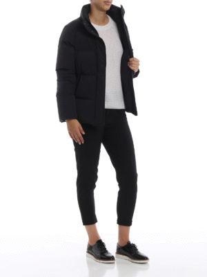 WOOLRICH: giacche imbottite online - Piumino corto Premium Puffy nero opaco