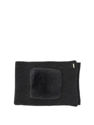 WOOLRICH: sciarpe e foulard online - Sciarpa in lana e cashmere con tasche lapin