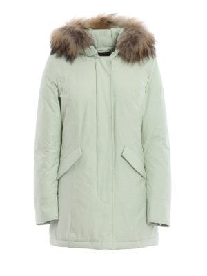 WOOLRICH: cappotti imbottiti - Piumino Arctic Parka verde acqua