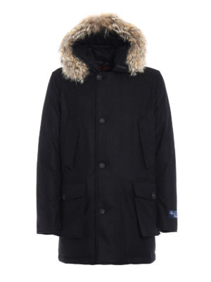 Woolrich: padded coats - Arctic Parka wool and cashmere coat