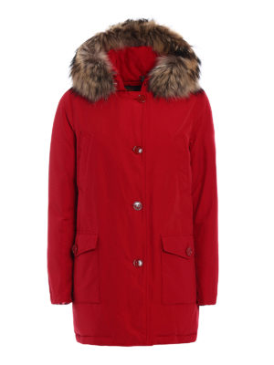 Woolrich: padded coats - Artik Parka Df padded red coat