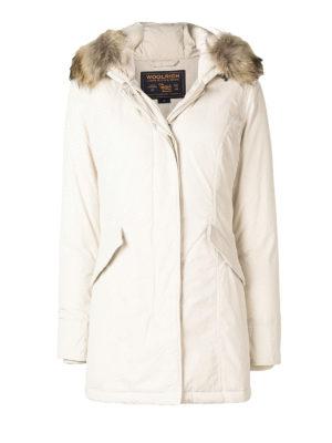 WOOLRICH: cappotti imbottiti - Piumino con pelliccia  di procione asiatico