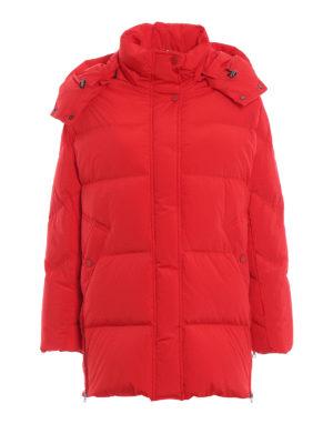 WOOLRICH: cappotti imbottiti - Piumino Aurora Puffy rosso opaco