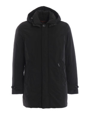WOOLRICH: cappotti imbottiti - Piumino nero City Coat