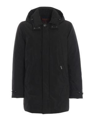 WOOLRICH: cappotti imbottiti - Piumino in nylon nero City Coat
