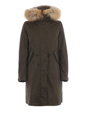 WOOLRICH: cappotti imbottiti - Parka Cascade con bordo di pelliccia 3 in 1