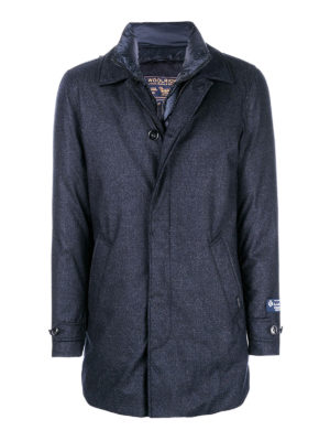 WOOLRICH: cappotti imbottiti - Cappotto imbottito in piuma d'anatra in lana