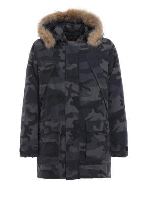 WOOLRICH: cappotti imbottiti - Parka Easton in gabardine camouflage