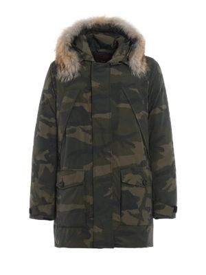 WOOLRICH: cappotti imbottiti - Parka in gabardine camouflage Easton