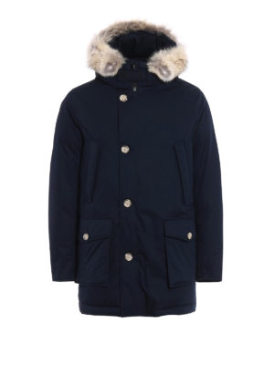 Woolrich: padded coats - Fur trimmed padded hooded coat