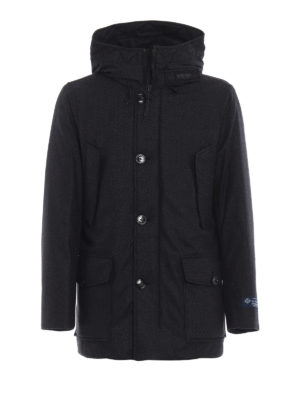 WOOLRICH: cappotti imbottiti - Parka Mountain in dream tweed Loro Piana