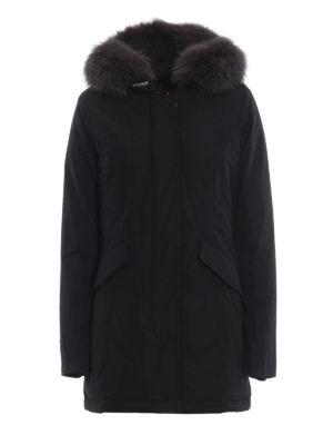WOOLRICH: cappotti imbottiti - Piumino nero Luxury Arctic con cappuccio