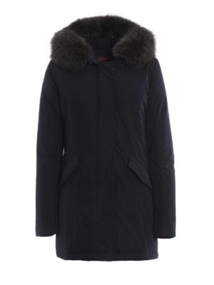 WOOLRICH: cappotti imbottiti - Piumino blu Luxury Arctic con cappuccio