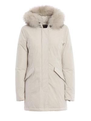 WOOLRICH: cappotti imbottiti - Piumino bianco Luxury Arctic con cappuccio