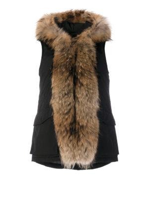 Woolrich: padded coats - Military black sleeveless coat