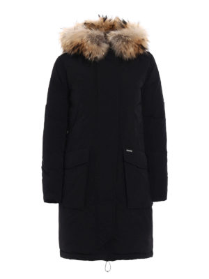 Woolrich: padded coats - Military fur trimmed down parka