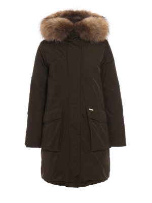 Woolrich: padded coats - Military fur trimmed padded parka