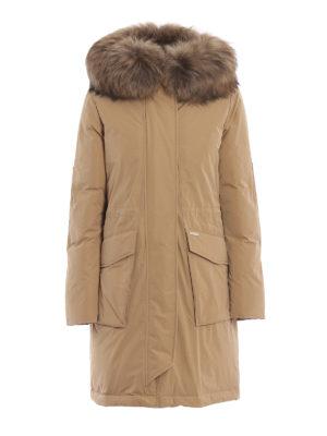 WOOLRICH: cappotti imbottiti - Piumino Military Parka con pelliccia