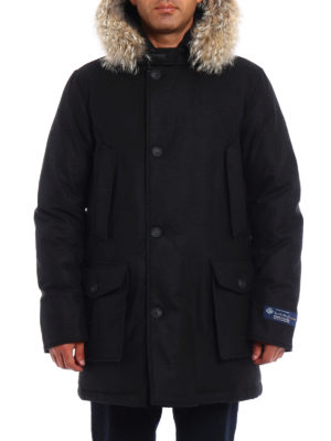 Woolrich: padded coats online - Arctic Parka wool and cashmere coat