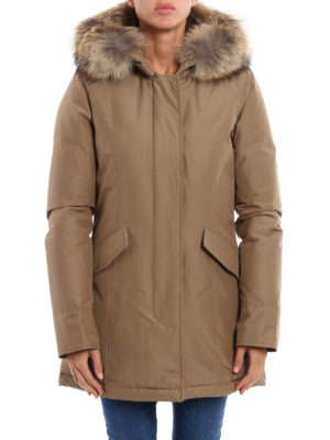 Woolrich: padded coats online - Artic fur trimmed down short coat