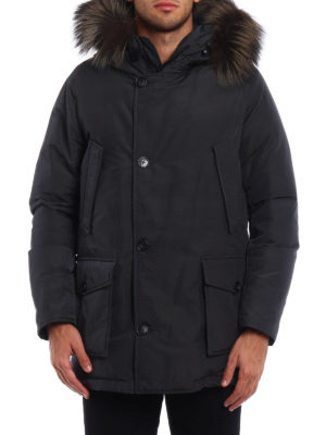 Woolrich: padded coats online - Cotton and nylon Military parka