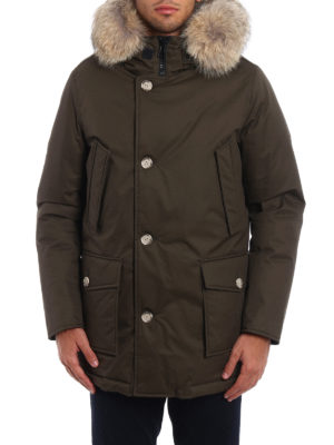 Woolrich: padded coats online - Fur trimmed padded hooded coat