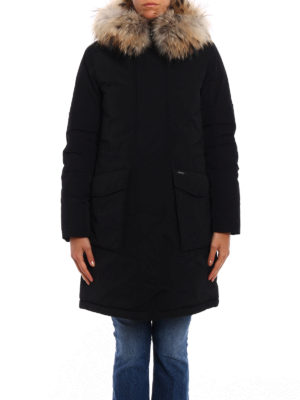 Woolrich: padded coats online - Military fur trimmed down parka