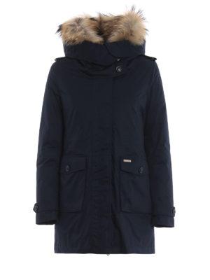 WOOLRICH: cappotti imbottiti - Piumino Scarlett Parka blu scuro due in uno