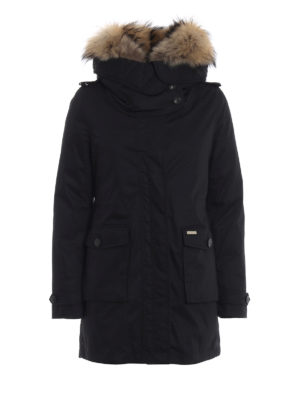 WOOLRICH: cappotti imbottiti - Scarlett Parka nero due in uno