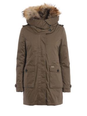 WOOLRICH: cappotti imbottiti - Scarlett Parka tortora due in uno