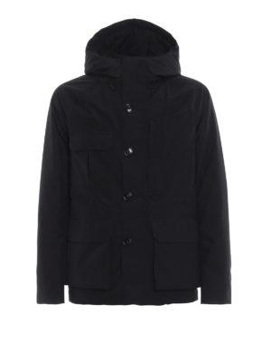 WOOLRICH: giacche imbottite - Giaccone Mountain in tessuto Goretex nero