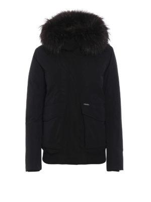 WOOLRICH: giacche imbottite - Giacca imbottita con inserto in pelliccia