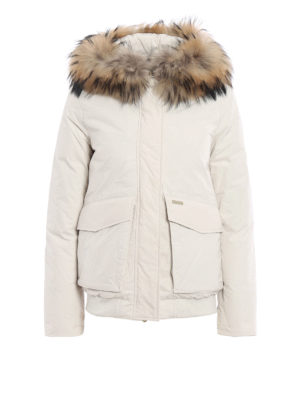Woolrich: padded jackets - Military fur trimmed down jacket