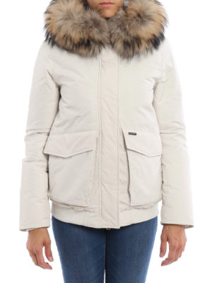 Woolrich: padded jackets online - Military fur trimmed down jacket