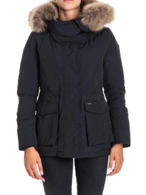 Woolrich: padded jackets online - Short Military down padded parka