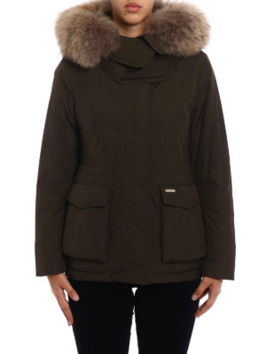 Woolrich: padded jackets online - Short Military down parka