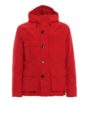 WOOLRICH: giacche imbottite - Giaccone Mountain in tessuto Goretex rosso