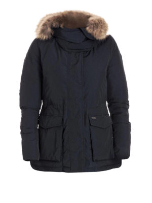 Woolrich: padded jackets - Short Military down padded parka