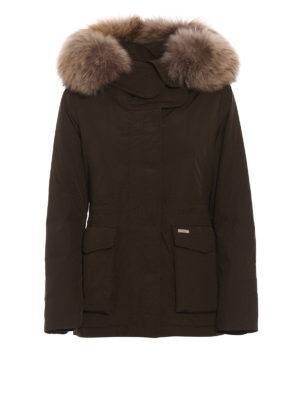 Woolrich: padded jackets - Short Military down parka