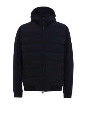 Woolrich: padded jackets - Wool sleeved padded bomber jacket