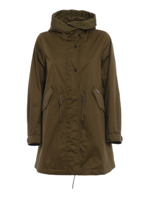 Woolrich: parkas - Dark green cotton over parka